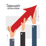 Teamwork and business design Royalty Free Stock Photography