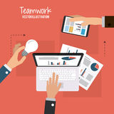 Teamwork and business design Royalty Free Stock Image