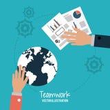 Teamwork and business design Stock Image
