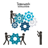Teamwork and business design Stock Photography
