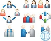 Teamwork business icon Royalty Free Stock Photos