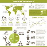Teamwork business infographic Royalty Free Stock Images