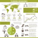 Teamwork business infographic royalty free illustration