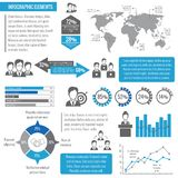 Teamwork business infographic vector illustration