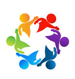 Teamwork business logo Stock Photos