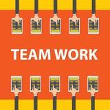Teamwork Business Meeting Concept, Flat style, Infographics Business, vector Stock Photos