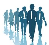 Teamwork business people. Group of young business people, vector illustration Stock Images