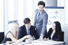 Teamwork of business people Stock Images