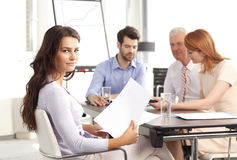 Teamwork. Business people sitting at meeting and  working together.Teamwork at office Royalty Free Stock Photography