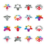 Teamwork and business team and friendship icon set, social group. Organization, vector conceptual unusual symbol collection for your design Royalty Free Stock Photography