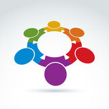 Teamwork and business team and friendship icon. Social group and organization idea, vector conceptual unusual symbol for your design Stock Images