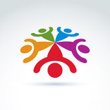Teamwork and business team and friendship icon. Social group, organization, vector conceptual unusual symbol for your design Stock Photography