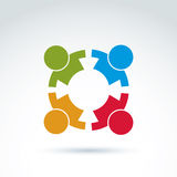 Teamwork and business team and friendship icon, social group, or Royalty Free Stock Photos