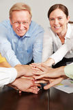 Teamwork in business team Stock Photo