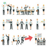 Teamwork In Business Work Process And Building Infographic Royalty Free Stock Image