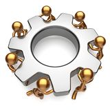 Teamwork business workforce partnership process gear job Stock Photos
