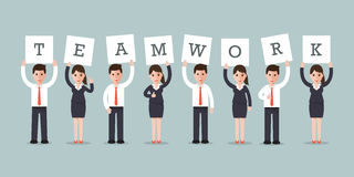 Teamwork businessmen and businesswomen Royalty Free Stock Image