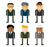 Teamwork businessmen from different countries Stock Images