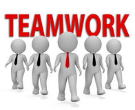 Teamwork Businessmen Indicates Together Group And Organized 3d Rendering Royalty Free Stock Photos