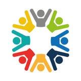 Teamwork businessmen silhouette icon Royalty Free Stock Photo