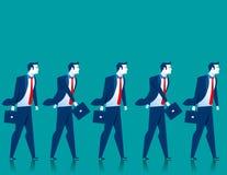 Teamwork. Businessmen walk. Concept business illustration. Vector flat Stock Photo