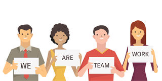 We are teamwork Royalty Free Stock Photography