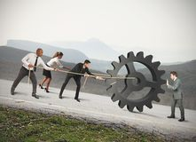 Teamwork of businesspeople stock photography