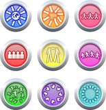 Teamwork buttons Stock Photography