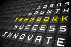 Teamwork buzzwords on black mechanical board Royalty Free Stock Photography