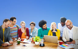 Teamwork Casual Discussion Brainstorming Learning Concept Royalty Free Stock Photography