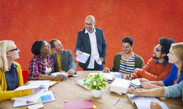 Teamwork Casual Leadership Brainstorming Learning Concept Royalty Free Stock Image