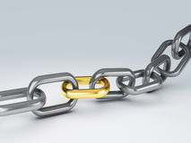 Teamwork chain 3d Royalty Free Stock Photo