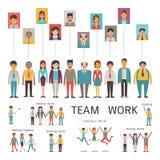 Teamwork-Charakter Stockfotografie