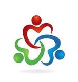 Teamwork charity people logo Royalty Free Stock Image