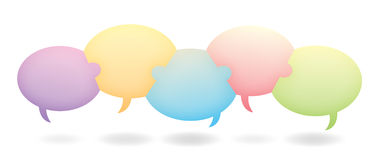 Teamwork Chat Bubbles royalty free stock photos