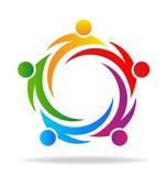 Teamwork circle shape logo Royalty Free Stock Photo