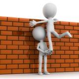 Teamwork climb wall Royalty Free Stock Photography