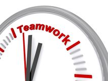 Teamwork clock Royalty Free Stock Photography