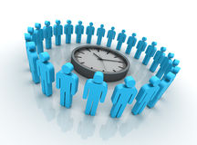 Teamwork with Clock Royalty Free Stock Image