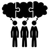 Teamwork cloud royalty free illustration