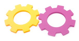 Teamwork cogs Royalty Free Stock Photos