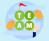 Teamwork. Cohesive and coordinated work of the team members can achieve its goals plans. Successful for profit wealth Royalty Free Stock Images