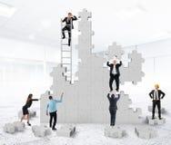 Teamwork collaborates Royalty Free Stock Photos
