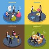 Teamwork Collaboration Isometric Concept stock illustration