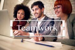Teamwork collaboration connection Concept royalty free stock photo