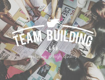 Teamwork Collaboration Togetherness Association Concept Stock Image