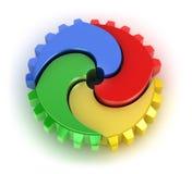 Teamwork colorful concept Stock Photos