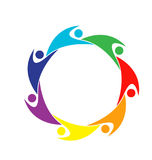 Teamwork colorful people logo Stock Images
