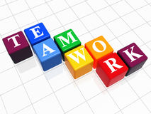 Teamwork in colour Royalty Free Stock Photography