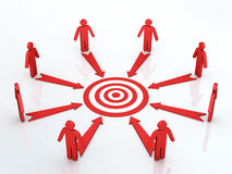 Teamwork common target concept Stock Photo